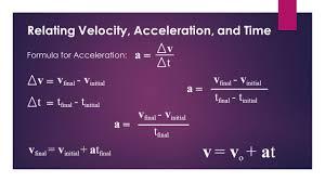 3 relating velocity acceleration