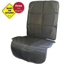 deluxe car seat protector superior quality non skid auto seat covers with storage bonus baby on board magnet best car seat savers protect upholstery