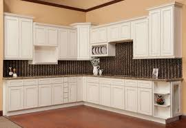 Antique Cabinets For Kitchen Antique White Kitchen Cabinets With Dark Island