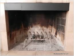 the smoke guard is a metal barrier that fits into the top of your fireplace opening