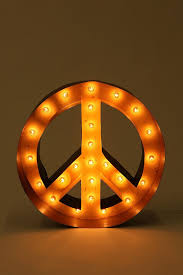 funky lighting. Peace Sign Marquee Light #UrbanOutfitters #bedroom #lighting #home #yourhomemagazine #magazine Funky Lighting