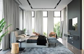 Main Bedroom Main Bedroom With Natural Light From Glass Wall A Modern House