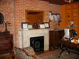 Exposed Brick Wall Exposed Brick Wall In Monkey Room Home Office Townhouse Turnaround
