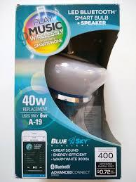 Led Bluetooth Light Bulb Speaker Blue Sky Blue Sky Wireless Led Bluetooth Smart Sync Bulb Speaker New 40w Energy Efficie