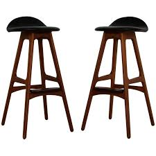 mid century modern stools. Mid-Century Modern Pair Of Erik Buck Buch Leather Rosewood Bar Stools Danish Mid Century Y