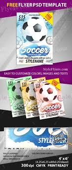 Soccer Flyer Template Templates Psd Word Eps Vector Ai