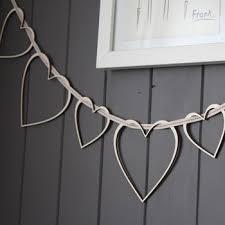 <b>heart</b> strings <b>wooden garland</b> by croglin designs ...
