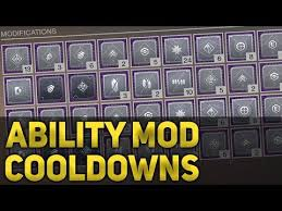 All Ability Cooldown Mod Times Breakdown Destiny 2