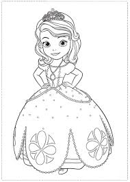Small Picture Sofia the First Coloring Pages