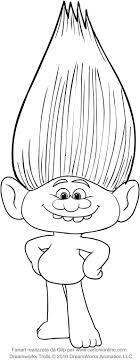 Disegno Di Guy Diamond Dei Trolls Da Colorare