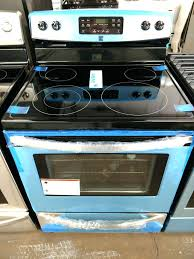 kenmore glass top stoves black and stainless steel glass top stove