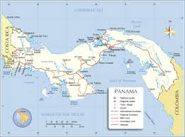 political map of panama  nations online project