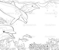 Living Room Coloring Coloring Pages Coral Reef Free Coral Reef Coloring Pages