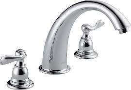 delta bt2796 ob oil rubbed bronze windemere roman tub faucet trim less rough in valve faucet com