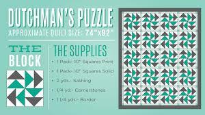 New Friday Tutorial: The Dutchman's Puzzle Quilt & dutchmanspuzzlediagram Adamdwight.com