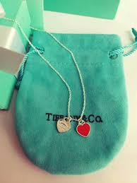authentic tiffany co return to double heart tag necklace and