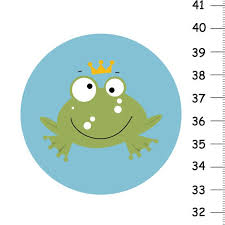 Frog Growth Chart For Children Canvas Height Chart Personalized Wall Art Custom Wall Decor
