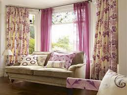 sweet window curtain design ideas pink color soft