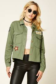 contemporary army patch jacket