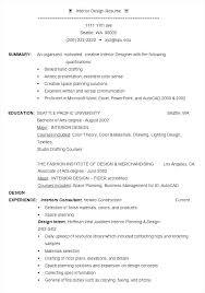 Example Of Graphic Design Resume Interior Design Example Graphic ...