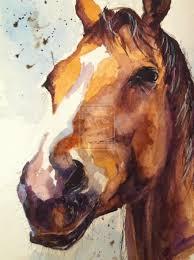 horse watercolour