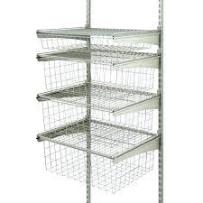 closetmaid hanging basket closet maid shelf track photo 3 of 4 drawer kit in nickel nice