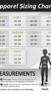 Elite Sports Size Chart Size Chart Elite Sports Apparel