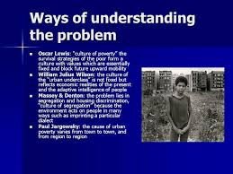 "the american ghetto drawn from kaplan wheeler holloway chapter  14 ways of understanding the problem oscar lewis ""culture"