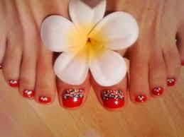 Toe Nail Art Red And Black: Red and black toe nail art design idea ...