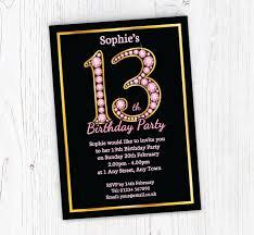Free 13th Birthday Invitations Pink Diamonds 13th Birthday Invitations