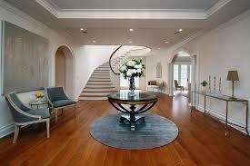 glass top circular table entryway