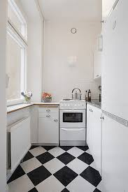 White Kitchen White Floor Black And White Kitchen Tiles Outofhome