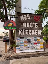 mrs mac s kitchen in key largo is good eatin start with conch fritters move on to hog fish and end with key lime pie