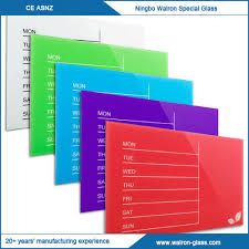 china weekly glass magnetic dry erase board supplier