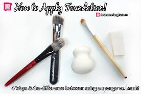 apply foundation using a sponge vs