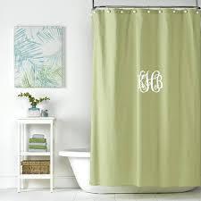 linen shower curtain spring green linen shower curtain monogrammed shower curtain extra long 84