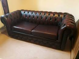 brown leather chesterfield sofa bed