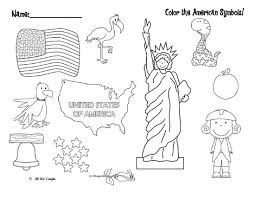 Small Picture Color the American Symbols FREE Patriotic Printable