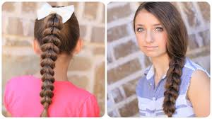 Quick Hairstyles For Braids Pull Through Braid Easy Hairstyles Cute Girls Hairstyles