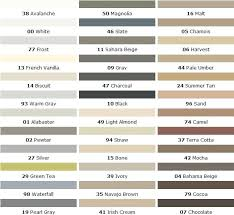 Vct Tile Color Chart Tile Grout Color Chart Colorfast Loose Tile Repair Vct Tile