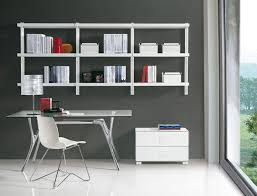 home office wall shelving. Modern Home Office Design For Trendy Comfortable Room To Work . Wall Shelving L