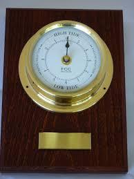tide clock on wood mount