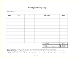 Printable Mileage Chart Service Record Template Excel Printable Mileage Log Vehicle