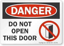 osha danger sign do not open this door s2 2755