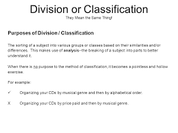 division or classification look at the following list of movies  division or classification they mean the same thing
