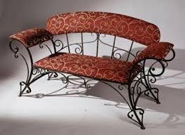metal furniture designs. wrought iron bench with red cushion metal furniture designs g