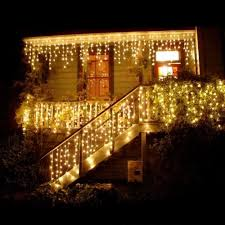 How To Plug In All Christmas Lights Us 12 59 10 Off Led Icicle Lights 216 Led Fairy String Lights Plug In Extendable Curtain Light String Christmas Lights For Bedroom Patio Party In