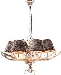 funky huntsman silver antler chandelier image 3