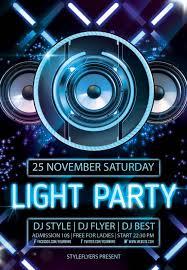 015 Light Party Psd Flyer Templateresize10002c1444 Template