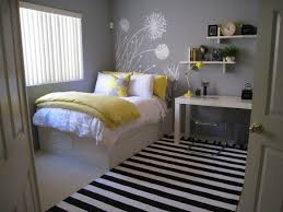 Great bedroom scheme for youth or young adults. It's modern, clean and airy  -